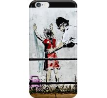 Banksy- Stop and search iPhone Case/Skin