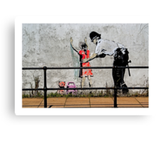 Banksy- Stop and search Canvas Print