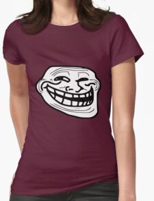 TROLLFACE - SMILE [UltraHD] Womens Fitted T-Shirt