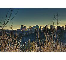 Edmonton Skyline in Spring(HDR) Photographic Print