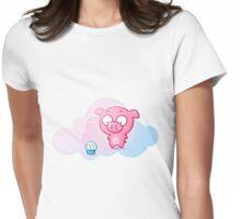 Piggy Womens Fitted T-Shirt