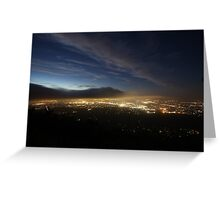 View of Eastern Suburbs From Below Channel 10 Towers Greeting Card