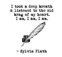 Sylvia Plath: I am, I am, I am. by READY PLAYERTWO