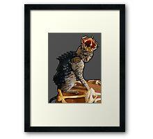 Dragon Slayer King Cat Framed Print
