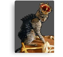 Dragon Slayer King Cat Canvas Print
