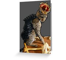 Dragon Slayer King Cat Greeting Card