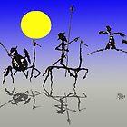 Don Quijote y Sancho Panza - Digital color by mago