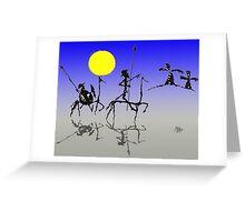 Don Quijote y Sancho Panza - Digital color Greeting Card