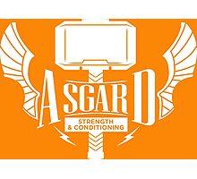 Thor - Asgard Strength & Conditioning - White Photographic Print