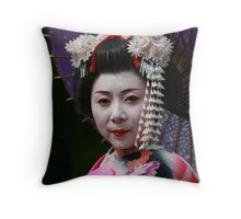Maiko in Kyoto II Throw Pillow