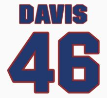 National baseball player Butch Davis jersey 46 by imsport