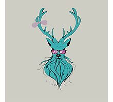 Deer hipster in glasses 2 Photographic Print