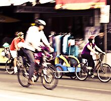 Coburg Cyclists by Marnie Hibbert