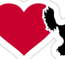 I love Chinese Crested Sticker