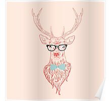 Deer hipster in glasses 5 Poster