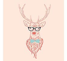 Deer hipster in glasses 5 Photographic Print