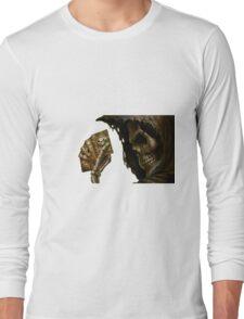 Poker Skull Long Sleeve T-Shirt