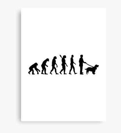 Evolution Cocker Spaniel Canvas Print