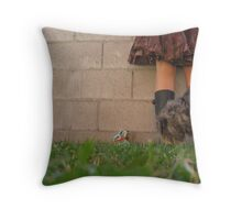 Mud Puddles & Dandelions Throw Pillow
