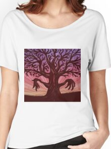 Abstract digital illustration of big leafless fantasy tree Women's Relaxed Fit T-Shirt