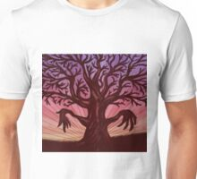 Abstract digital illustration of big leafless fantasy tree Unisex T-Shirt