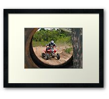 Tyred Rider. Framed Print