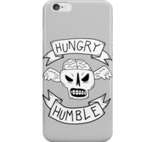 Hungry and humble skull wings iPhone Case/Skin