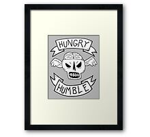 Hungry and humble skull wings Framed Print