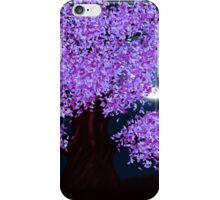 Violet fantasy tree at night iPhone Case/Skin