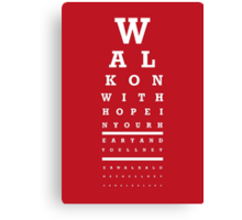 Eye Chart - Liverpool FC - You'll Never Walk Alone Canvas Print
