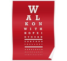 Eye Chart - Liverpool FC - You'll Never Walk Alone Poster