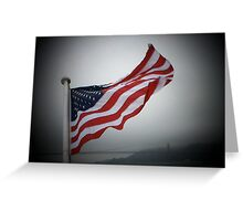 """Our American Flag"" Greeting Card"