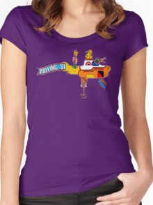 Yellow Submarine (sea of monsters) Women's Fitted Scoop T-Shirt