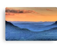 Blue Mountains Fantasy - Blue Mountains HDR Series Canvas Print