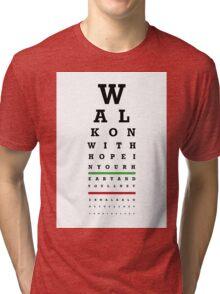 Eye Chart - Liverpool FC - You'll Never Walk Alone Tri-blend T-Shirt