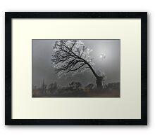 Frosty Winter's Eve Framed Print