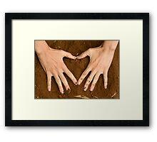 Love Earth Framed Print