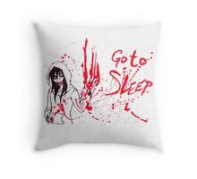 Jeff The Killer: Go To Sleep Throw Pillow