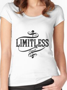 Limitless Apparel - A Black Women's Fitted Scoop T-Shirt