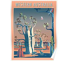 Bilbies and Boabs - Western Australia Poster