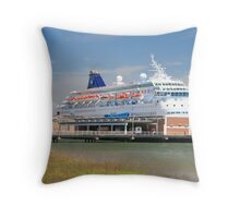 time for a cruise Throw Pillow
