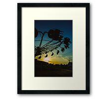 Amusement park sunset Framed Print