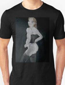 Saucy black stockings Unisex T-Shirt