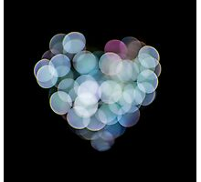 Valentines Abstract heart shaped lights  Photographic Print