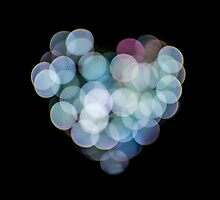 Valentines Abstract heart shaped lights  by PhotoStock-Isra
