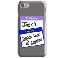 "Fight Club: ""I AM JACK'S COMPLETE LACK OF SURPRISE"" iPhone Case/Skin"