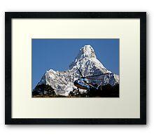Himalaya Rescue, Nepal Framed Print