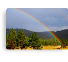 Rainbows end! Canvas Print