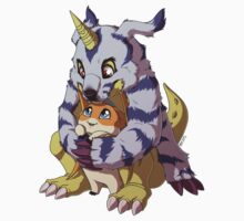 Gabumon and Patamon by mirzers