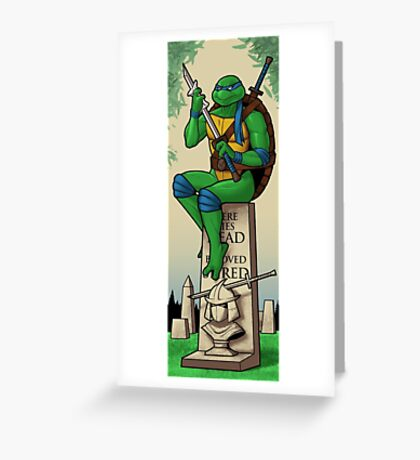 The Haunted Sewer: Here Lies Shred Greeting Card